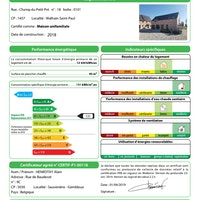 certificat PEB Champ du Petit Pré 18 - 0101 1457 Walhain signée.pdf