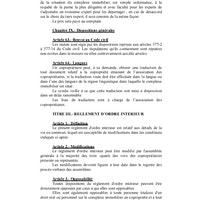 Règlement d'Ordre Intérieur