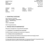 Bodemattest - Moortelstraat 24