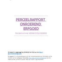 13. ActaMapsBijlage - PerceelRapportOnroerendErfgoed (43006C035200V000).pdf